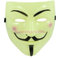 Wholesale 10pcs/lot New V For Vendetta Guy Fawkes Fancy Dress Party Halloween Masquerade Face Mask Y Free Shipping