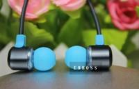 3.5mm headset EMBOSS Q30 earphone headphone pink,blue,yellow earphone for iphone5 Samsung HTC etc