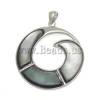 Free shipping!!!Natural Black Shell Pendants,australian, Donut, natural, approx 39x39x4mm, Hole:Approx 7x4mm, 10PCs/Bag