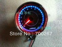 LED light Two Color Universal 13000 RPM Scooter Analog Tachometer for Motorcycle free shipping