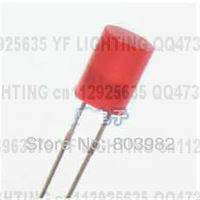 6.7mm high led diode 5MM flat top RED diffused led 300-500MCD Indicator dip led(CE%Rosh)