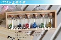 свободный корабль - 20pieces/много смешанные формы пробка стеклянная бутылка с глаз крючок, малых очарование стеклянные бутылки, стекло флакона Кулон