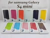 Battery Housing Case For S4 mini Cover,Back cover flip leather case battery housing case for Samsung Galaxy S4 mini i9190*100pcs