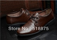 Free Shipping 2013 new fashion men's leather shoes Size 39-44