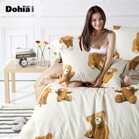 New arrival home textile classic cartoon satin piece set
