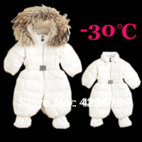 Newborn baby warm down romper,baby boys and girls winter bodysuit infant hoodie down jumpsuit,Gloves and feet set,baby body