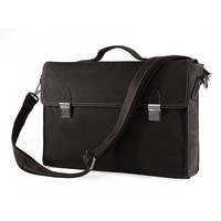 Free Shipping Fashion Vintage Mens genuine leather Briefcase Laptop Bag Portfolio Business Bag Document Bag Messenger bag #7155R