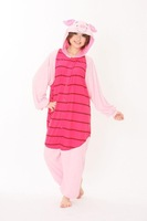 RUBY Flannel Kigurumi Piglet Pajamas Animals Onesies Pyjamas Jumpsuits COSPLAY Costumes Cute Cartoon Sleepwears For Adult