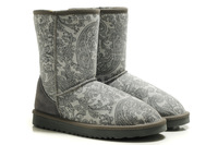 Free Shipping Wholesale 5831# Women's Banded Winter short patent paisley Snow Boots, 0913  sheepskin boots, us 5-10