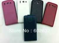 10pcs/lot free shipping Glossy Flip Leather Case Cover For Huawei U8951D Ascend G510