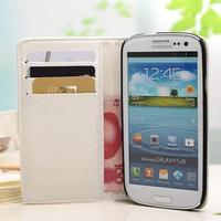 Luxury leather Flip case for samsung i9300 Original wallet case for galaxy S3 iii with 3 card holder + 1 Bill site 7 Colors