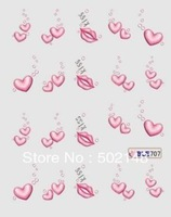 100pcs/lot Lovely flower and lace nail sticker/3D designs nail decals sticker