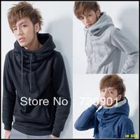 FREE SHIPPING 2013MENS  spring school wear hoody fashion male thin outerwear with a hood sweatshirt TT-48