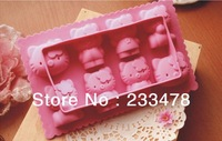 Free Shipping 2pcs Hello Kitty Ice Cube Tray Mold Maker Silicone fondant chocolate mold Random Colour
