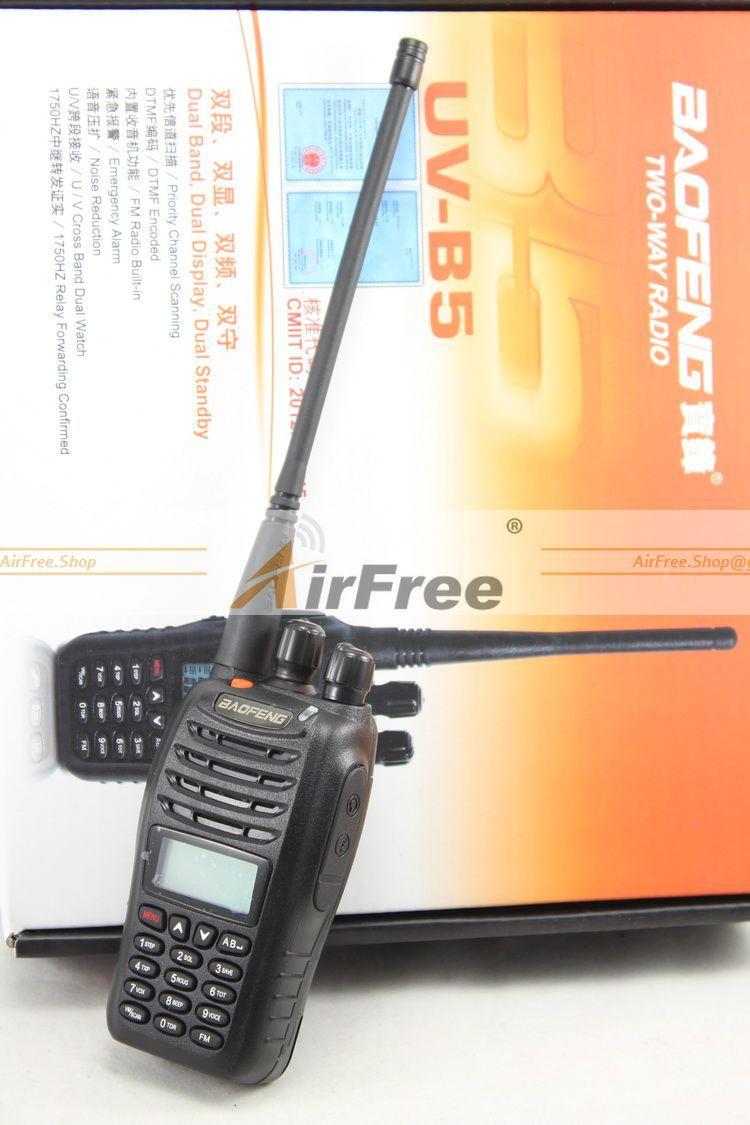 FREE SHIPPING Baofeng Walkie Talkie UV-B5 Dual Band CB Radio Transceiver UHF VHF Two Way Radio 5Watts with FM Radio(China (Mainland))