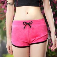 Sports shorts female 100% cotton breathable comfortable thin basic butt-lifting yoga running underwear panties