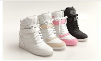 Free shipping/  2013 New fashion  elevator shoes Velcro shoes high help recreational sports shoes
