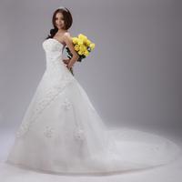 On Sale New 2014 Sweetheart Vintage Bandage Tube Top Slim Wedding Dress Princess 1 Meter Trailing Sleeveless Wedding Dresses