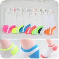 Socks summer women's neon screw lozengy shallow mouth socks boat