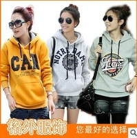 39 wa2-088 spring and autumn women's with a hood sweatshirt chromophous women's fleece with a hood sweatshirt