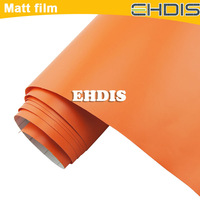 matt orange auto turning  foil repacking film with air free bubble and high polymer pvc material car body color change film