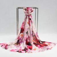 2014 Winter Fashion Lady's Wool Silk Scarves Vintage Style Long Warm Cashmere Stole Graceful Wrap Shawls Digital Printing