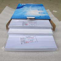 White pvc sheet for hot laminator