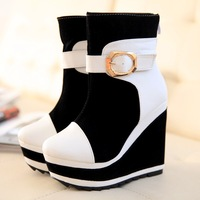 Autumn and winter woman boots new arrival 2013 woman shoes ultra platform heels wedges shoes women's platform snow boots