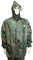 Outdoor camping hiking digital Camouflage set split raincoat motorcycle raincoat set