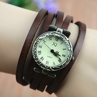 2013 New Hot Sale! Fashion wristwatch Vintage Rome time 5 laps leather Quartz Watch for Women watch.TOP Quality