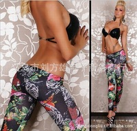 2013 New arrival sexy jeans Women's Fashion Print Flower Leggings high quality Jeggings Cheap price