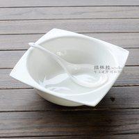 9 tureen white bone china series square carleton rice bowl instant noodles big soup bowl tableware