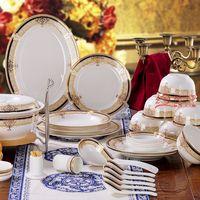 Tableware bone china set ceramics plate 56 bone china bowl married !