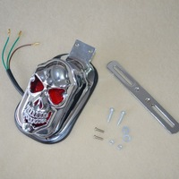 Cool Skull  brake lights Motorcycle Motorbike Scooter Front Lamp Rear Light  drop shipping