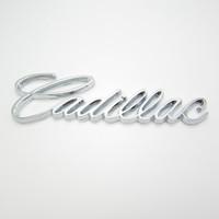 Free shipping, 10pcs/lot Cadillac  metal Plating Car rear Badge Emblem logo sticker beautiful design and easy to install