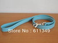 Free Shipping NEW Pet Products Puppy Small Dog PU Leather Leashes For Small Medium Dogs Smooth Lead Pulling Rope Blue