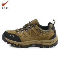 Autumn outdoor waterproof shoes slip-resistant shoes walking shoes cowhide low 8116 casual hiking shoes