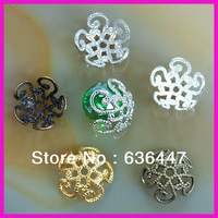 Free New arrived 4x10mm Chinese knot Bead Caps 5 colors Silver,Golden,Bronze,Copper Plated flower beads for jewelry accessary