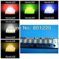 5Valuesx3000pcs/reel=15000pcs SMD SMT1206 Ultra Bright Light LED Red/Jade Green/Blue/White/Yellow