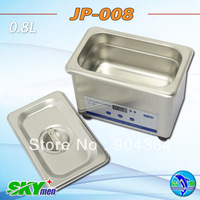 800ml mini ultrasonic cleaner with 50W ultrasonic power for jewelry clean free shipping Skymen JP-008