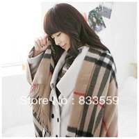 Warm in winter classic British style oversized plaid unisex scarves shawl thickening!!!!FREE SHIPPING