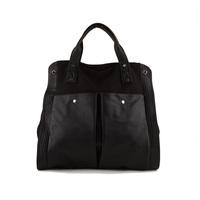 pu leahter + canvas women handbags designers brand for laptop,a4 notebook computer shoulder bag,fashion cross body bags,cx1126