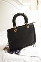 Solid color all-match women's classic handbag messenger bag vintage scrub