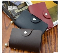 Free Shipping Men's Leather Credit Card Holder/Case card holder wallet Business Card Package PU Leather Bag Wholesale