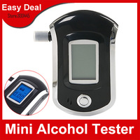 Prefessional Mini Police Digital LCD Breath Alcohol Tester Breathalyzer Free Shipping