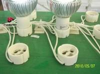Free Shipping Ceramic GU10 Spotlight Fixture Holder Socket Wire Connector fitting GU10 Lamp Holder