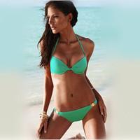 Free shipping 2014 bikinis Sexy Bikini for women Swimsuit Push Up Padded Beachwear Swimwear Top Twist Bandeau Set SLM Size
