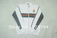 A+++ thai quality 2013 2014 Real Madrid jackets,Free shipping Real Madrid Training suit home white with embroidery logo