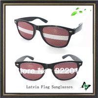 Latvia flag sunglasses promotion sticker sunglasses Sun Glasses Black Fashion Novelty Wayfarer Style Shades Costume