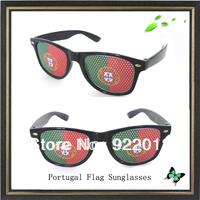Portugal flag sunglasses sticker sunglasses Recreation Glasses Fun Party Pin Hole Wayfarer Sunglasses Cartoon Eye Design